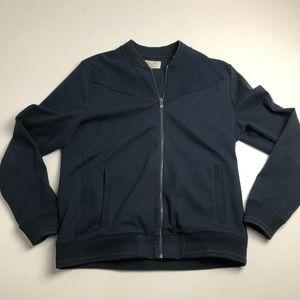Original Penguin Blue Full Zip Sweater Mens XL